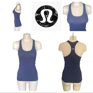 Lululemon Navy Blue Cool Racerback Tank Top EUC